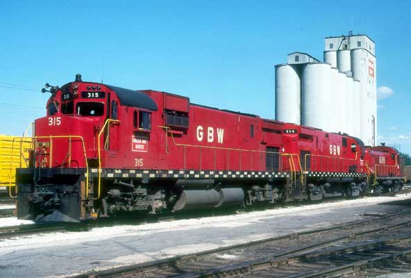 Photo:  Red GB&W C430 in Norwood yard